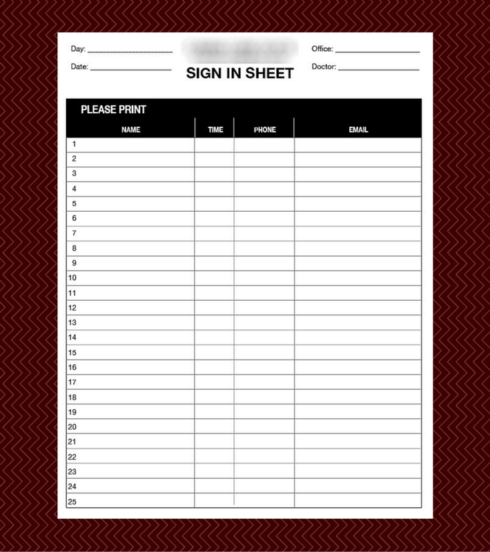 medical office sign in sheet template - patient sign in sheet custom designed patient sign in