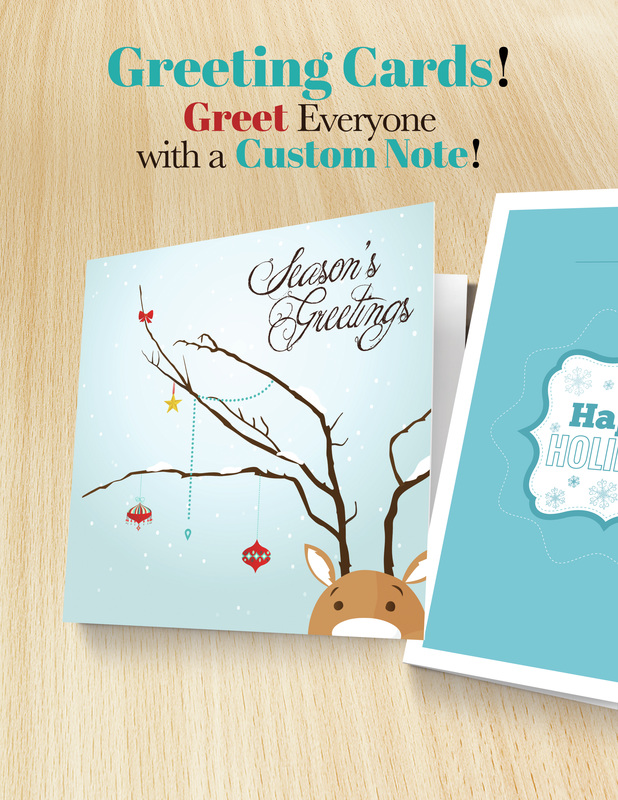 Holiday cards and greeting cards