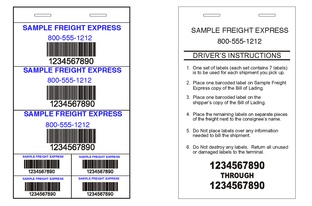 Freight Pro Labels | Greenway Print Solutions